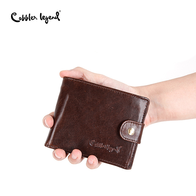 e3db598c6404 Cobbler Legend Real Cowhide Leather Bifold Clutch Men s Short Wallets  Purses Male ID Credit Cards Holder Carteira Masculina 2018 free shipping  worldwide