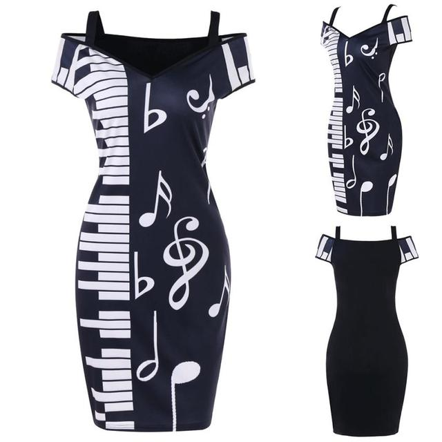 Dress Music Note Print...