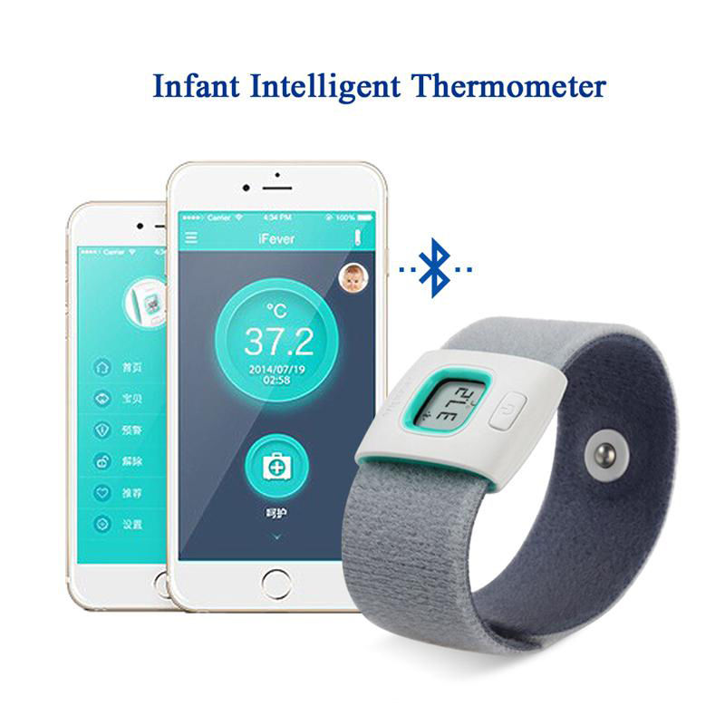 US $28882016 New iFever Bluetooth Smart Thermometer Baby Wearable  Monitor Body Temperature App IR Bluetooth smart baby monitor-in  Thermometers from