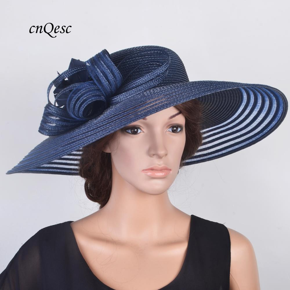 a6a7ca4e 2019 NEW DESIGN,Navy blue X LARGE Derby Easter Church Royal Ascot Hat  wedding hat hatinator mother of the bride summer beach hat ~ Free Delivery  July 2019