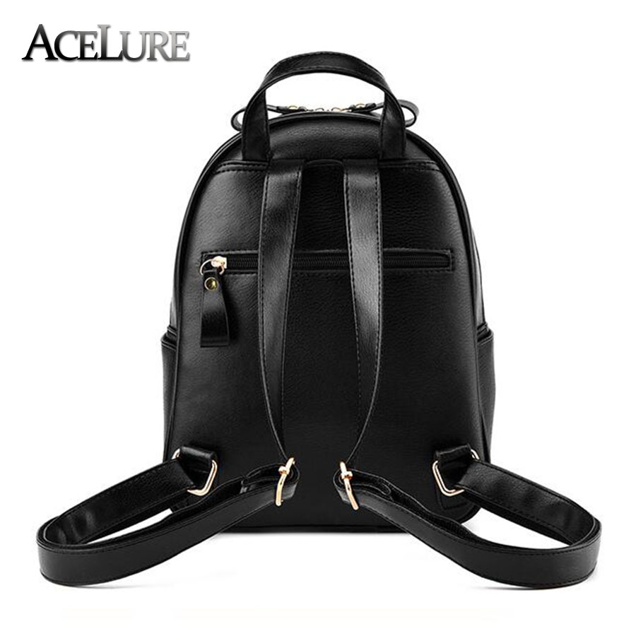 Acelure Women Backpack Hot Sale Fashion Causal Bags High Quality Bead Female Shoulder Bag Pu Leather Backpacks For Girls Mochila #4