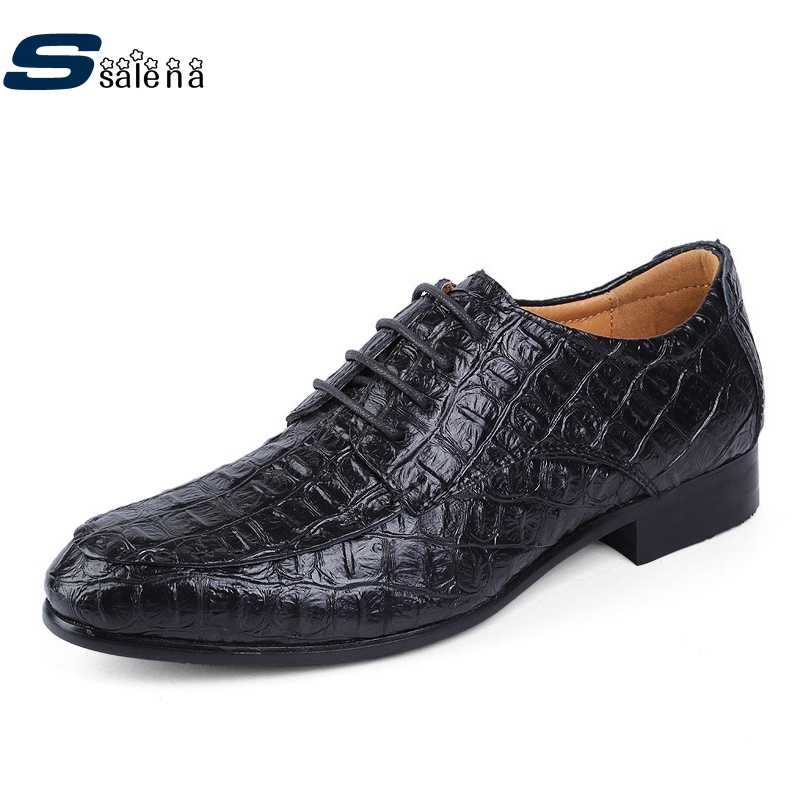 British Style Alligator Leather Shoes Men Dress Shoes Fashion Business Shoes For Man Casual