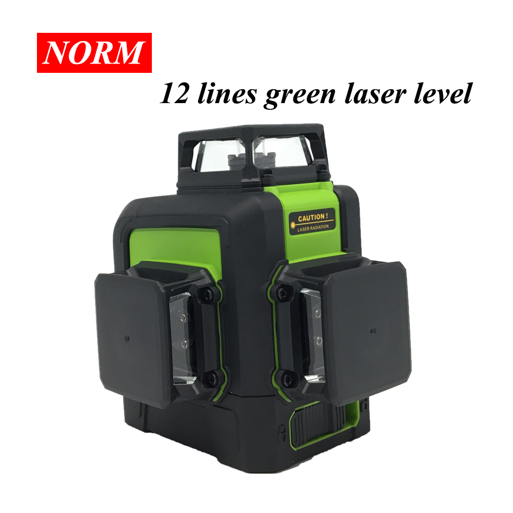 Norm 12 Lines Green/red Laser Level 8 Lines 5 Lines level Self Leveling 360 Horizontal and Vertical Powerful 3D Laser level Beam-in Laser Levels from Tools    1