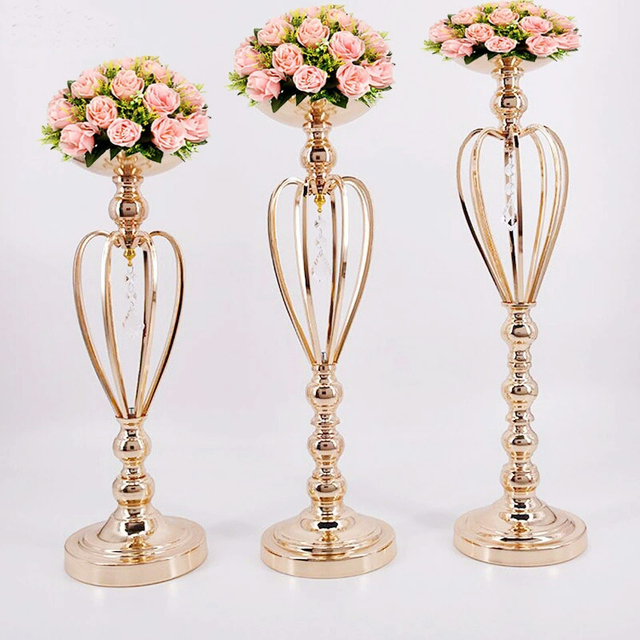 61cm 24 Gold Table Stand Wedding Flower Stand Flower Vase Wedding