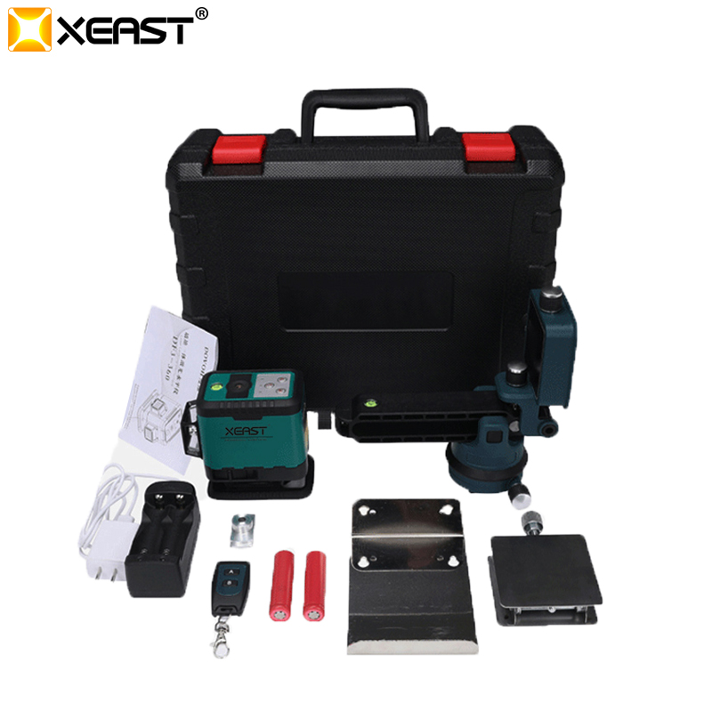 XEAST 12 Lines Green beam Laser Level 3D Self Leveling 360 Horizontal And Vertical Cross tiles