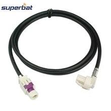 Superbat araç/araba HSD kablosu Dacar 535 montaj B kodu konektörü düz Jack bir kod sağ açı kadın benz BMW için