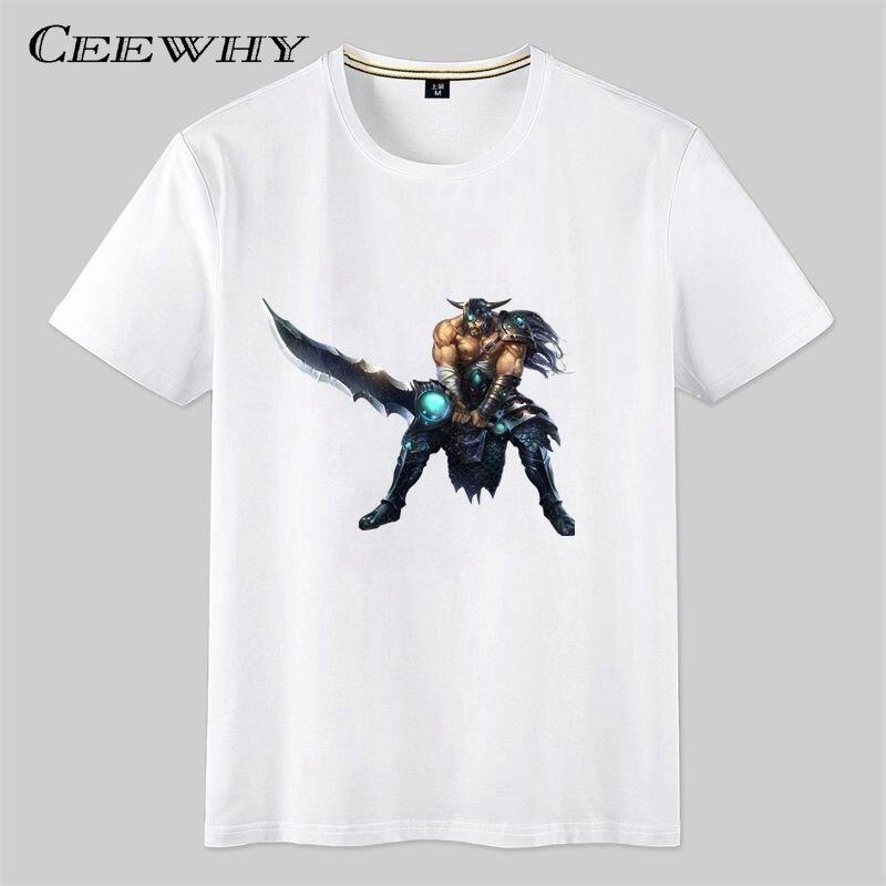 Ceewhy white short sleeve design t shirt lol printed 3d t for T shirt design sleeve print