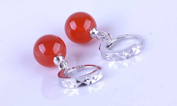 925 スターリングシルバーイヤリング pendientes 天然宝石月光石ウォータードロップピアス女性のための brincos S-E31