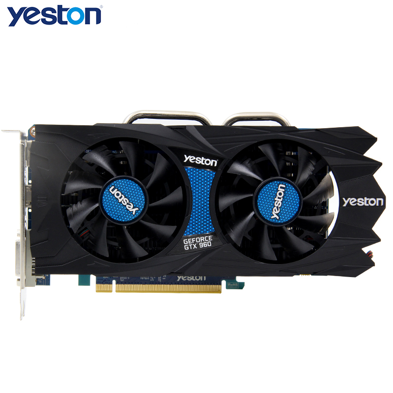 Yeston SPXD GTX960 4G video card NVIDIA GTX960 4G GDDR5 gaming graphics card DirectX 12 high quality guarantee 2 years warranty