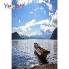 Yeele Sunny Cloudy Sky Lake Beach Boat Landscape Photography Backgrounds Vinyl Camera Photographic Backdrops For Photo Studio