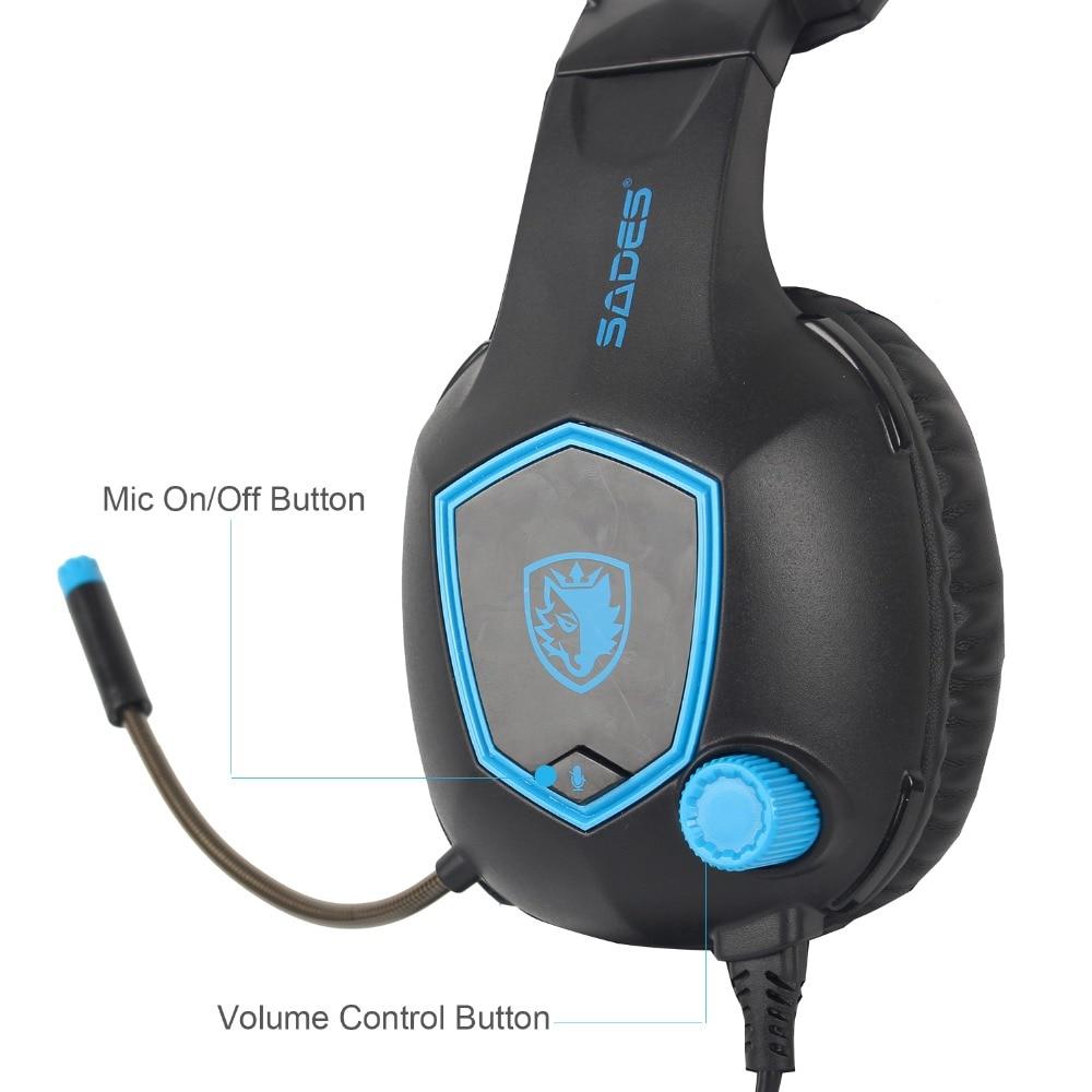 SADES SA818 Computer Gaming Headphones PC Gamer Headset for PS4 New ...