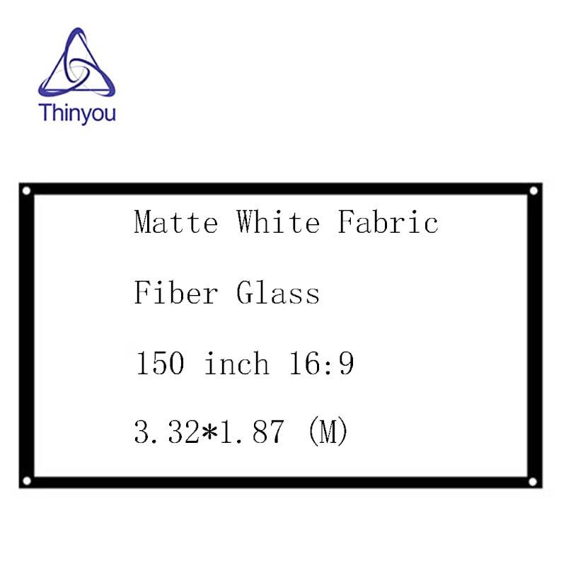 Thinyou matt fehér szövetszál üveg 150 hüvelykes 16: 9 egyszerű - Otthoni audió és videó