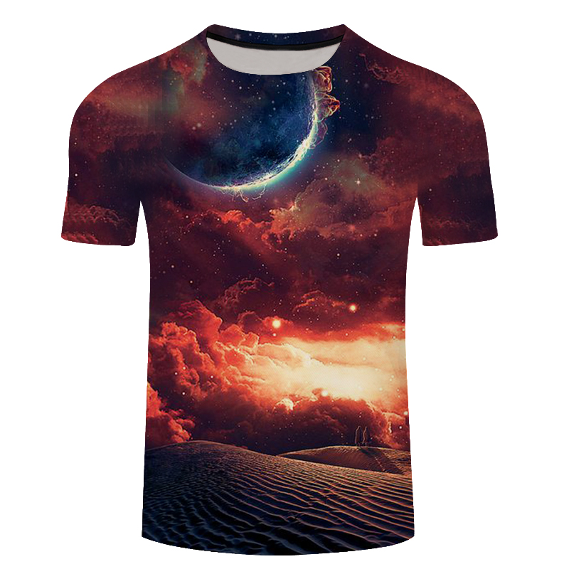 Brand galaxy T shirt Space T-shirts funny 3d t-shirt 2017 hip hop mens clothing china galaxy shirts chinese printed tee
