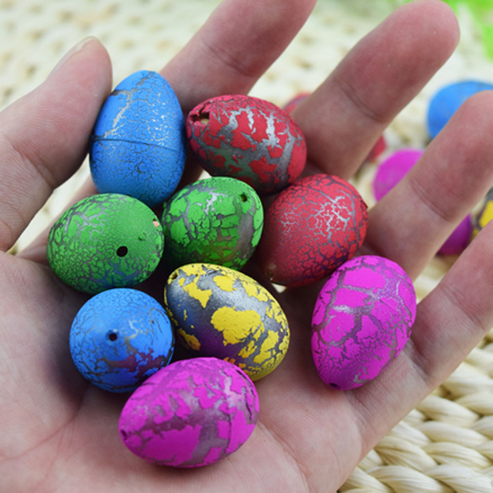 Color Random 10 Pcs/set Novel Water Hatching Inflation Dinosaur Egg Watercolor Cracks Grow Egg Educational Toys