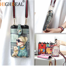 HIGHREAL Fashion Cute Long Wallet Women PU Leather Cartoon Bag Lady Clutch Phone Case Zipper Card Holder Female Change Purses