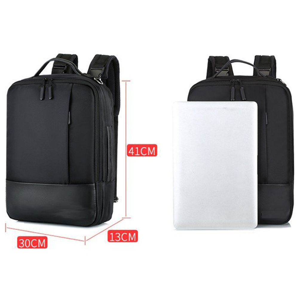 Waterproof Anti theft Backpack USB Charging Laptop Backpack Men Women Zipper Travel Large Capacity Student Work Nylon Bag 2 in Backpacks from Luggage Bags