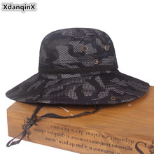 XdanqinX Novelty Adventure Camouflage Hat Adult Mens Bucket Hats Foldable Womens Beach 2019 NEW Large Visor Breathable Cap