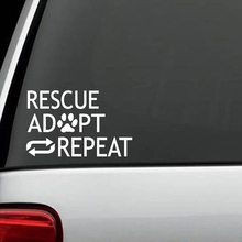 Rescue Adopt Repeat Dog Decal Sticker Animal Shelter Gift Pet Accessories Personality Creative Classic Car Sticker стоимость