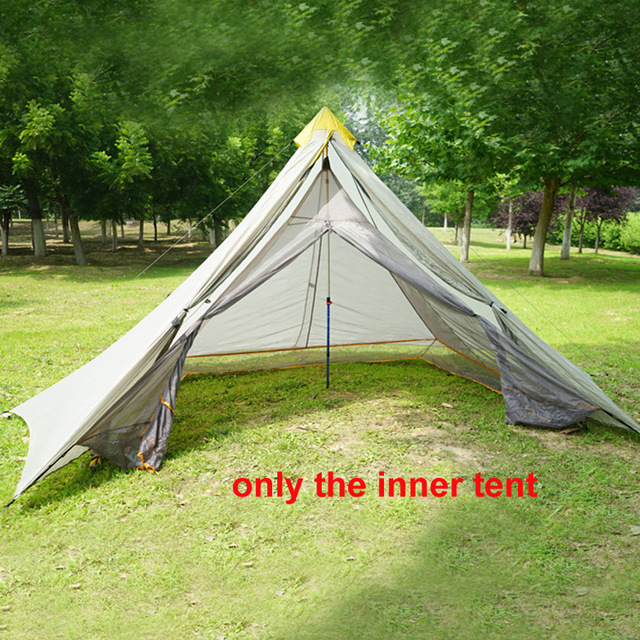 3-4 person 240*140*145cm big pyramid mesh inner tent no bottom & 3 4 person 240*140*145cm big pyramid mesh inner tent no bottom ...