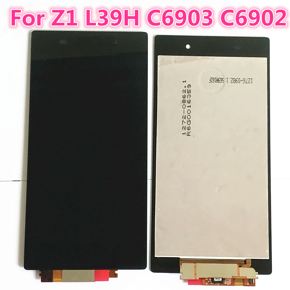 Touch Screen For Sony Xperia Z1 L39 L39H C6902 C6903 LCD Display Digitizer Sensor Glass Assembly 5.0 inch 1920*1080 Free Tools|Mobile Phone LCD Screens|Cellphones & Telecommunications - title=