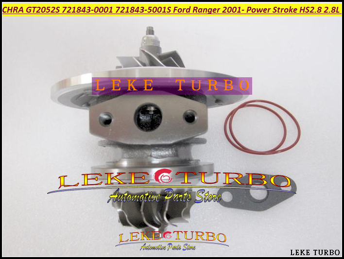 Turbo Cartridge CHRA Core GT2052S 721843 721843-0001 721843-5001S Turbocharger For Ford Ranger 01- Power Stroke HS2.8 2.8L 130HP free ship turbo gt25s 754743 5001s 754743 0001 754743 79526 turbocharger for ford ranger 2004 ngd3 0 ngd 3 0l tdi 3 0tdi 162hp