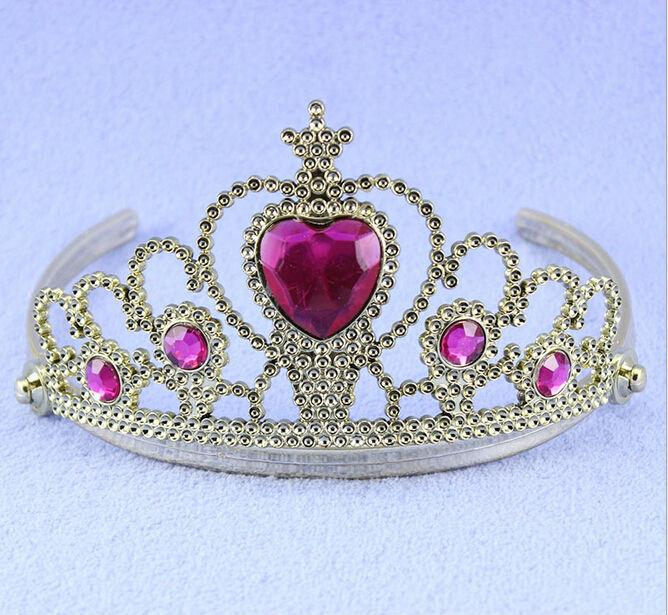 Disny Prinzessin Birthday Party Costume Crown Tiara Mit Acryl Diamant - Partyartikel und Dekoration