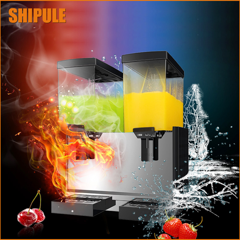 SHIPULE 2018 New Slush Machine 15L*2 Cold Drink Dispenser 220V Snow Melting machine Ice Slush Smoothies Machine free shipping cold drink dispenser slush machine sparying juicer ice beverage dispenser for sale