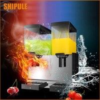 Shipule 2018 новая машина слякоть 15L * 2 холодный напиток дозатор 220 В таяния снега машина лед слякоть смузи машина