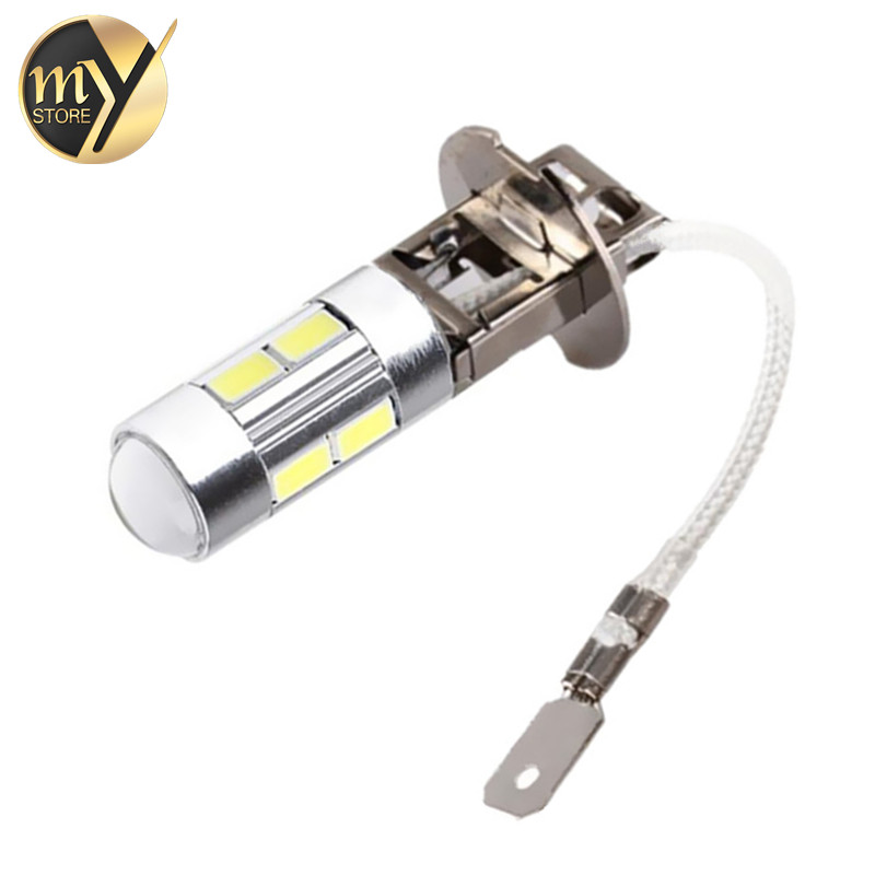Led Car Light Fog Led High Power Lamp - H3 H1 5630 Smd Auto Car Led Bulbs Car Light Source Parking 12V 6000K Headlight White