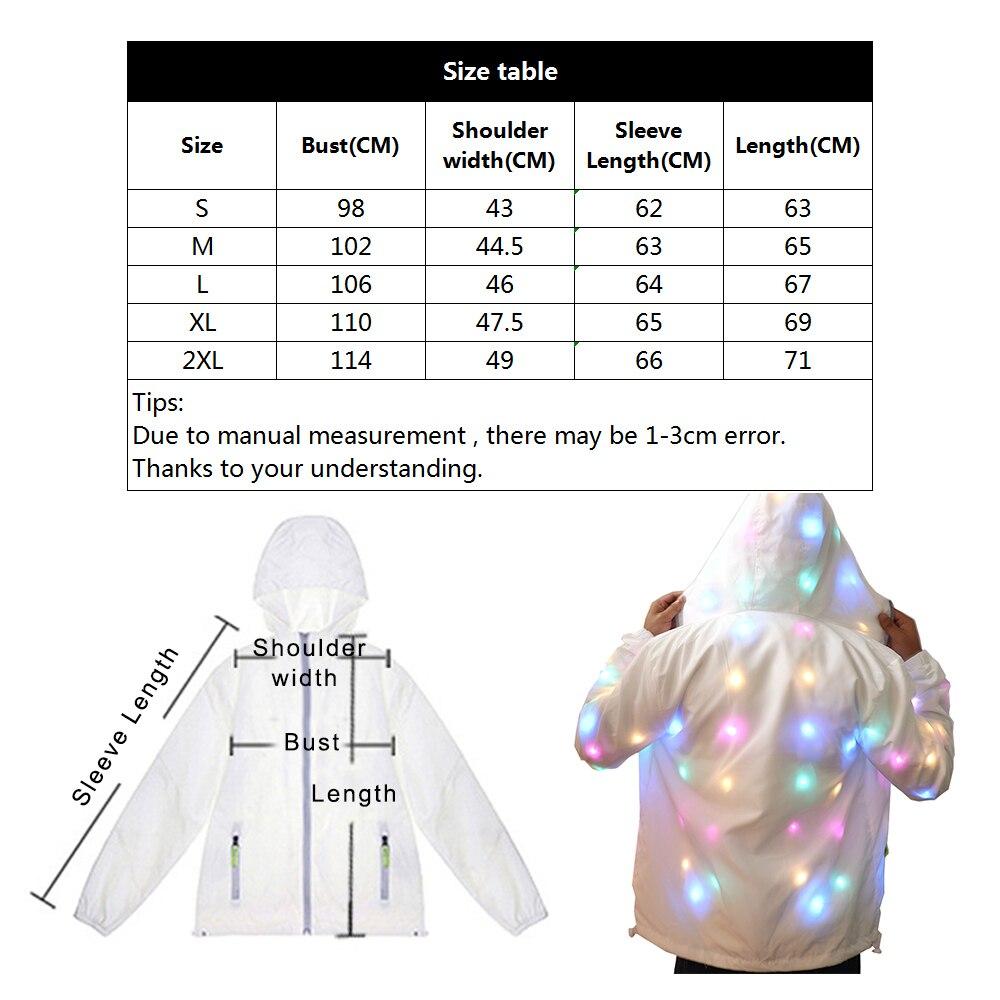 Nouveau LED manteau magique lumineux dame Bar danse spectacle discothèque vêtements, costume Cospaly, LED DJ Costumes noël, fête d'halloween J75 - 6