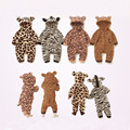 Spring Autumn Newbron Clothes Flannel Baby Boy Clothes Cartoon Animal Jumpsuit Baby Girl Rompers Baby Onesie Overalls Clothing