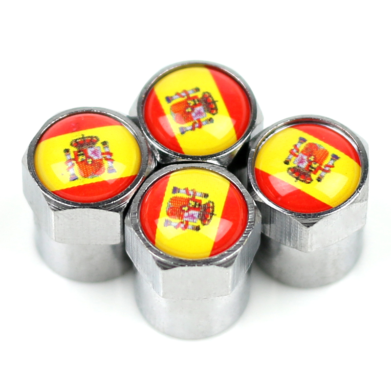 <font><b>Car</b></font> <font><b>wheel</b></font> Motorcycle Chrome Metal <font><b>Wheel</b></font> Tire Valve Caps case for <font><b>Seat</b></font> <font><b>Leon</b></font> Ibiza cupra <font><b>Altea</b></font> Belt Racing emblem Spain image