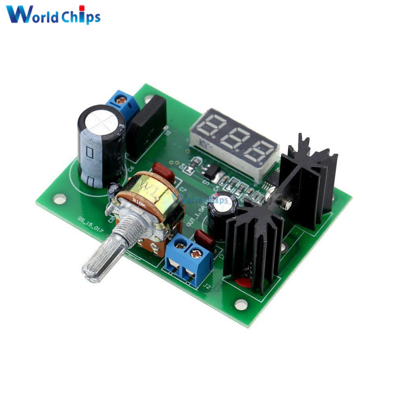 US $3 53 16% OFF|AC/DC DC LM317 Adjustable Voltage Regulator Step Down  Power Supply Module With LED Meter Voltmeter Buck for Arduino 2A Max-in