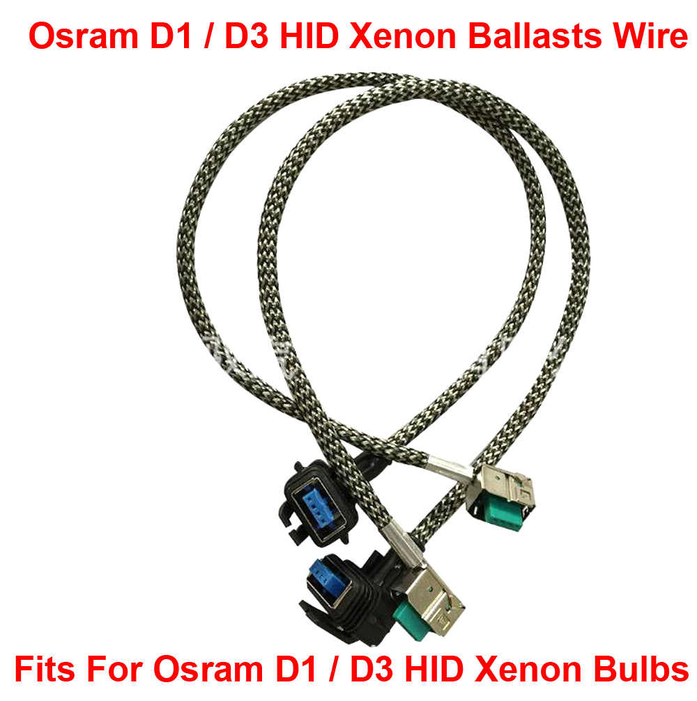 hight resolution of 2pcs d1s d1r d1c d3s d3r d3c hid xenon headlight bulbs ballasts wire harness cable adapter