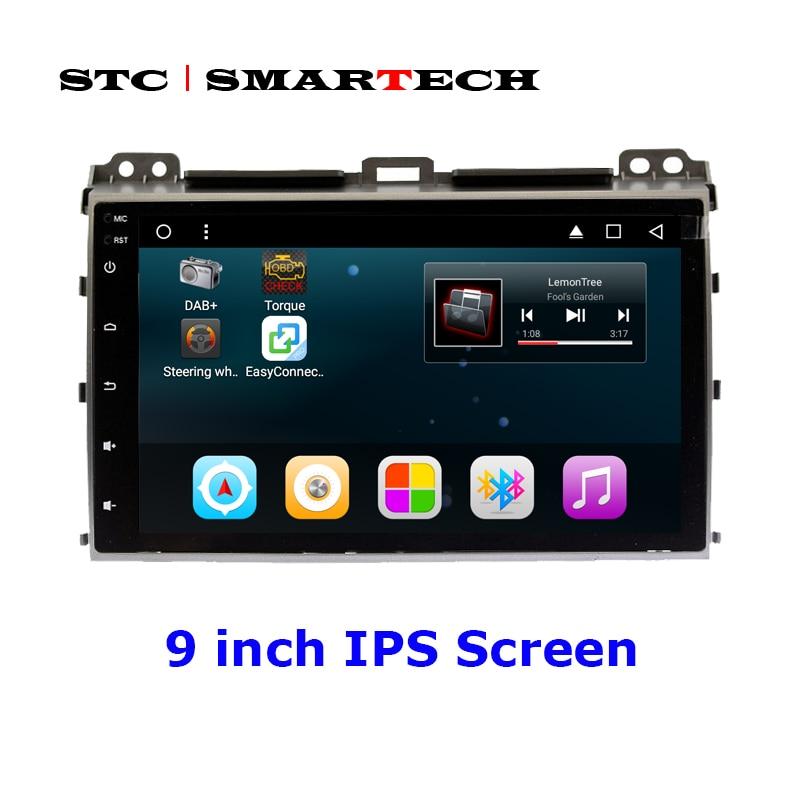 SMARTECH 2 Din Android Car Radio GPS Navigation System For TOYOTA Land Cruiser Prado 120 Support Original JBL Amplifier System