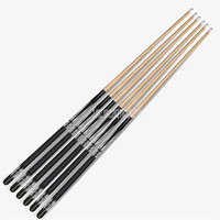 5pcs/set 147cm Wooden Pool Cues Wood Billiard Bar Stick Entertainment Snooker Accessories Billiard Tools 1/2 Structure T30
