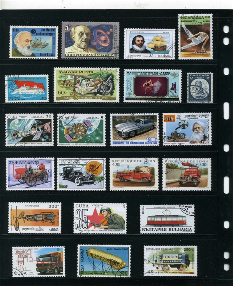 Image 4 - 500PCS Lot Good Condition Postage Stamps Collections From Many Countries With Post Mark Stamps Postal Used For Collection-in Stamps from Home & Garden