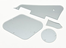 KAISH LP Pickguard Cavity Covers Turss Rod Cover for Epiphone Les Paul Silver Mirror