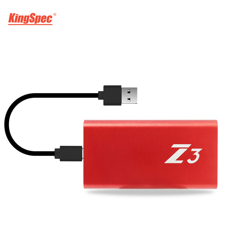 Kingspec  Ssd 128GB 256GB 512GB 1TB Type-C External Portable Harddisk Tlc USB3.1 Compatible With Usb3.0 For Laptop Computer Ps1