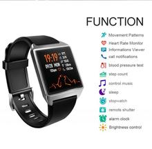 W2 Smart Watch Bracelet Music Control Smartwatch AGPS Pedometer Blood Pressure Heart Rate Monitor