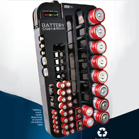 Batería Caja de Almacenamiento para 72 unids AA AAA 9 V CR AG C Tipo D Batería Holder Organizador con Probador de la batería