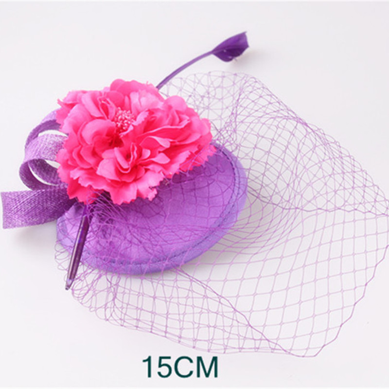 14 colors women wedding veils fascinator hat silk flower millinery 14 colors women wedding veils fascinator hat silk flower millinery hats hair clips lady brides hair accessories holiday gifts in hair accessories from mightylinksfo