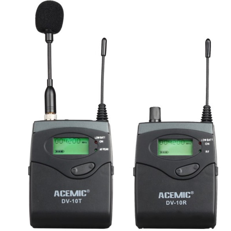 ACEMIC DV 10T DV 10R SLR Camera Interview Wireless Microphone Lapel Microphone UHF 798 830MHz professional