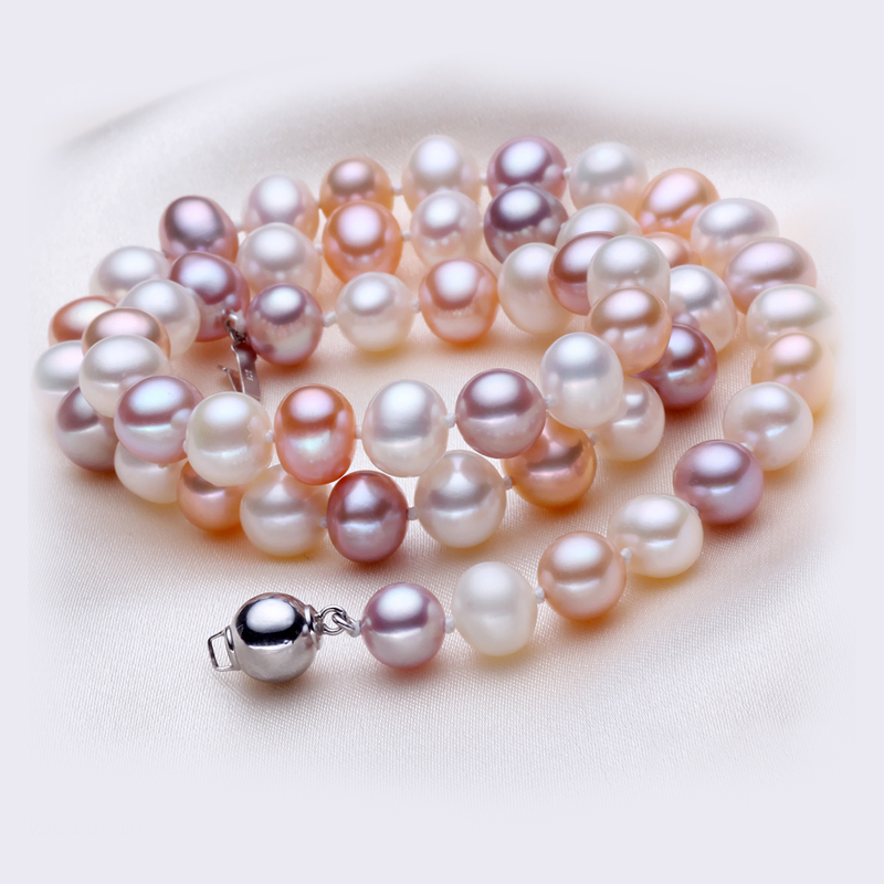 Eternal wedding Women Gift word 925 Sterling silver real 925 silver real natural big [meet] Jasmine Pearl mixed color pearl neckEternal wedding Women Gift word 925 Sterling silver real 925 silver real natural big [meet] Jasmine Pearl mixed color pearl neck