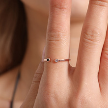Europe and America Fashion Golden Silver Plated Imitation Ring Tail Opening Adjusted Jewelry Women Lady Gifts