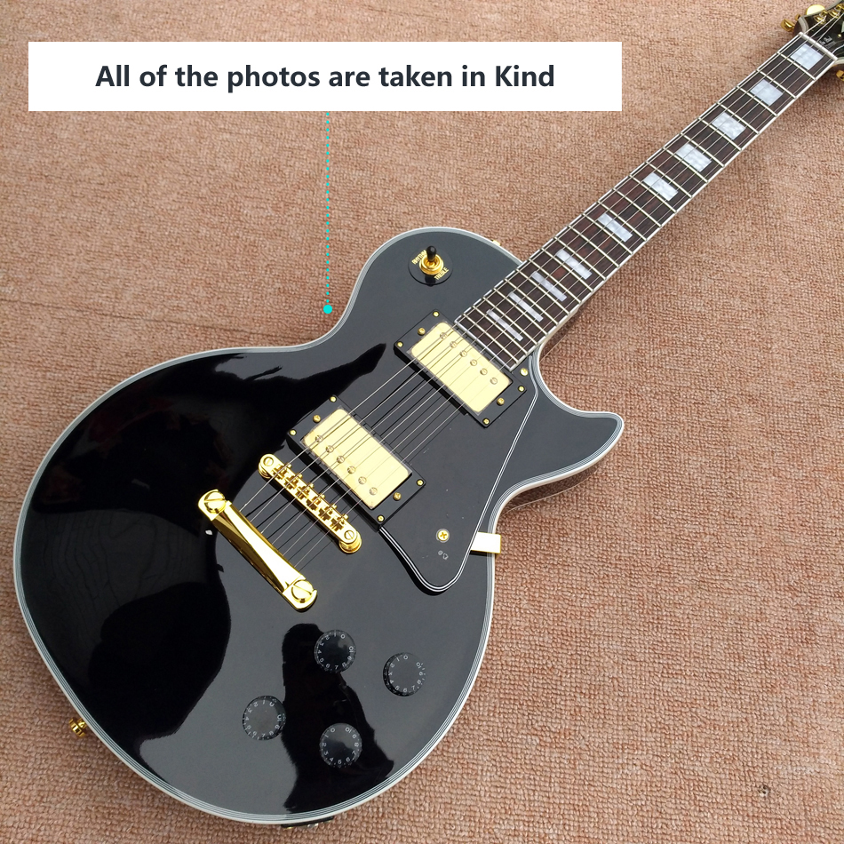 Free shipping Guitar recording video appreciation custom mahogany black lpcustom electric guitar gold hardware best price g standard les electric guitar lp deluxe paul guitar luxury finish mahogany guitar golden hardware free shipping