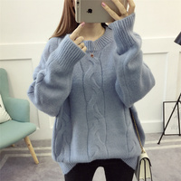 2018 autumn winter Thicken bottoming sweater women fat pullover sweater female large size loose knitted femme ladies top