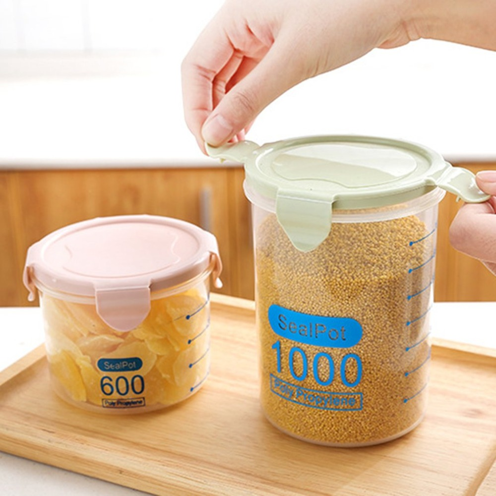 Aliexpress.com : Buy 600ML Practical Household Plastic Storage Jars Food  Storage Bottle Safe Non Toxic Leakproof Sealed Kitchen Storage Box From  Reliable ...