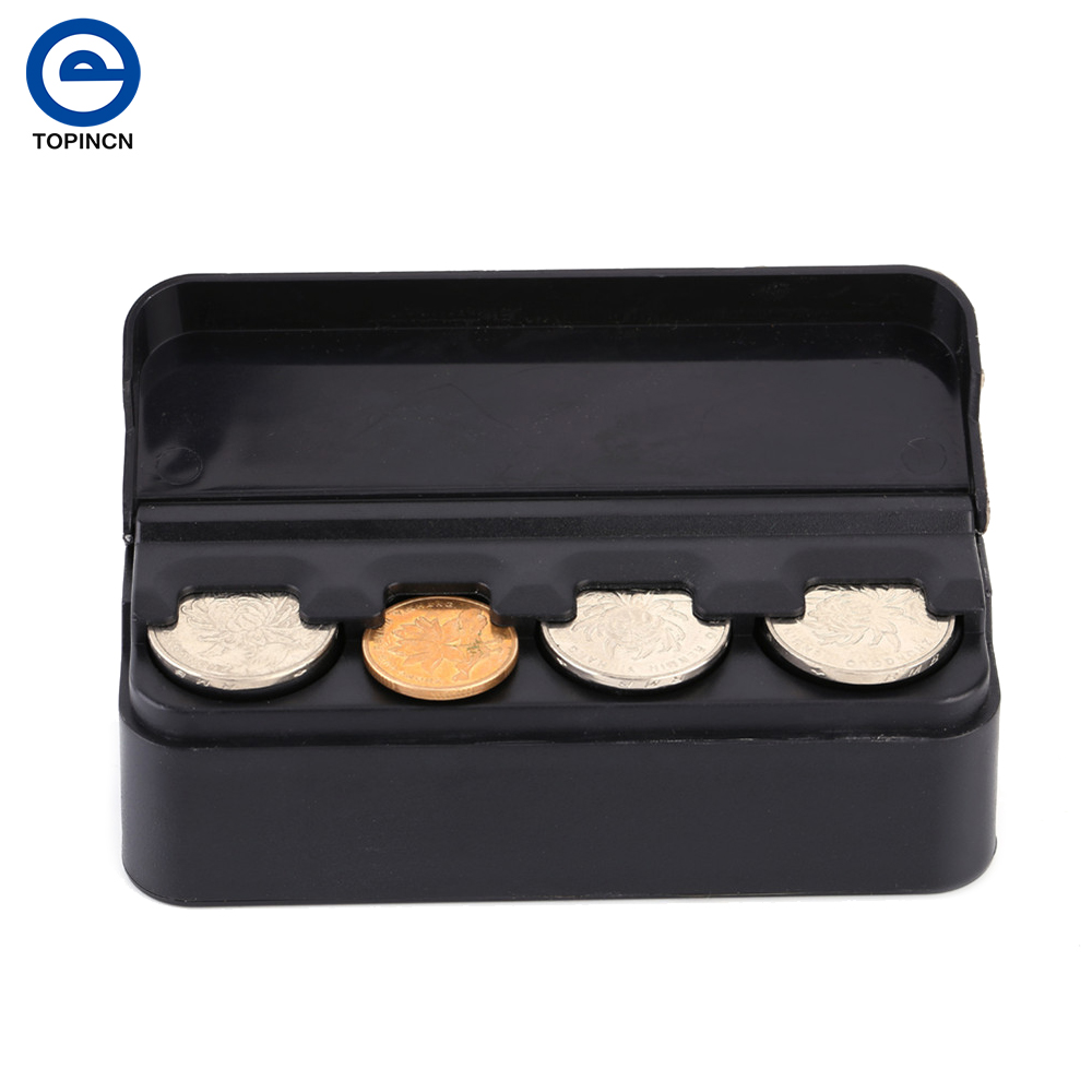auto car portable plastic coin holder change storage box. Black Bedroom Furniture Sets. Home Design Ideas