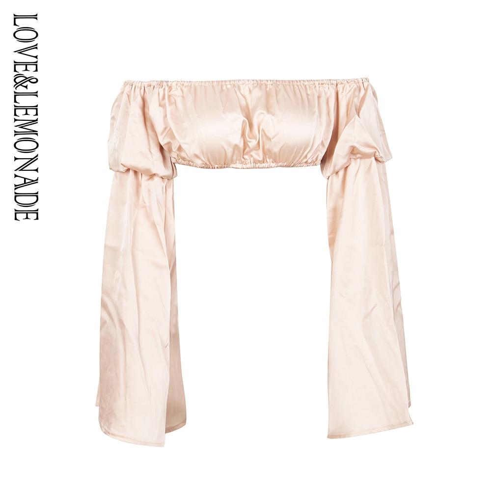 Love&Lemonade  Apricot-Colored Chest Short Top LM1302T